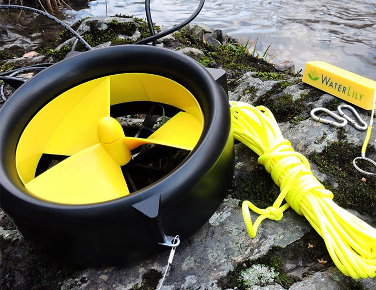 The Waterlily Turbine Charges Your Phone with Wind or Water at werd.com