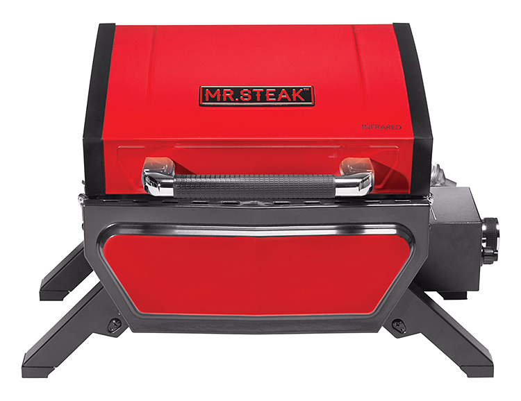The 1-Burner Infrared Portable Grill from Mr. Steak is Red Hot at werd.com