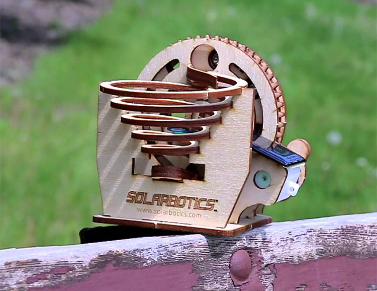 Build Your Own Solar Marble Machine at werd.com