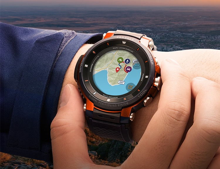 Casio Introduces Dual-Display WSD-F30 Pro Trek Smart Watch at werd.com