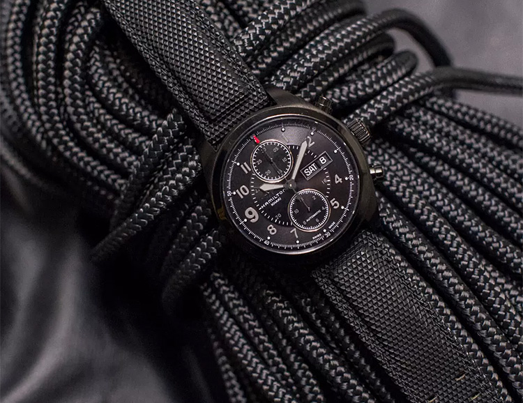Hamilton Introduces Spy-Inspired Khaki Series Field Chrono at werd.com