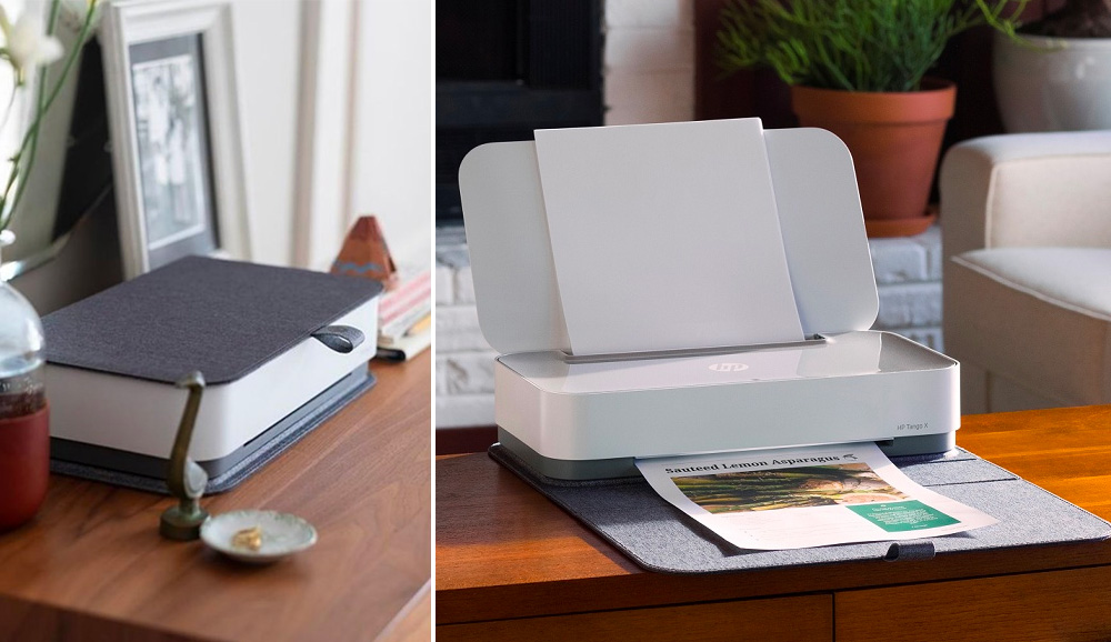 HP's Voice-Controlled Tango Printer Looks Like a Book at werd.com