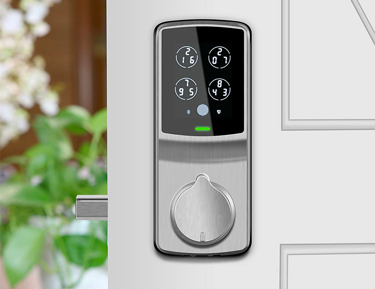 Lockly's Secure Smart Lock Uses Fingerprint Touch ID at werd.com