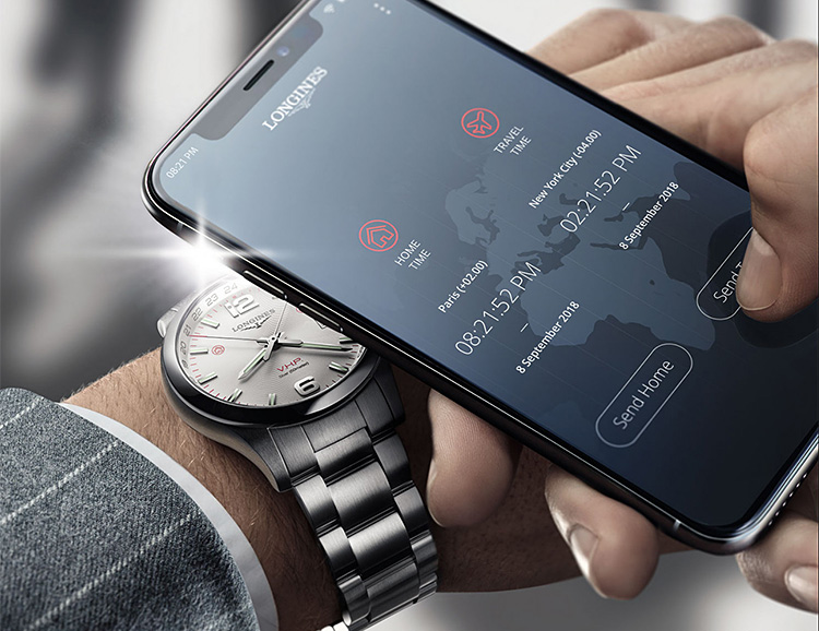 Longines Travel-Focused Conquest V.H.P. Flash Setting Watch Syncs with Light at werd.com