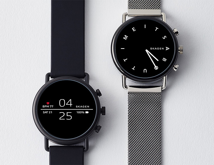 Skagen's Falster 2 Smart Watch Adds NFC, Heart Rate, & Waterproofing at werd.com