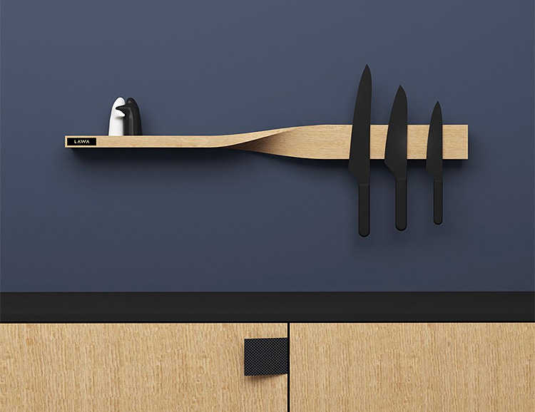 This Stylish Shelf is Storage with a Clever Twist at werd.com
