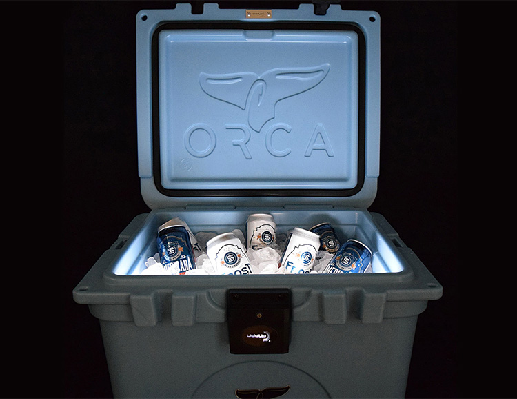 The Orca LiddUp Cooler is Lit at werd.com