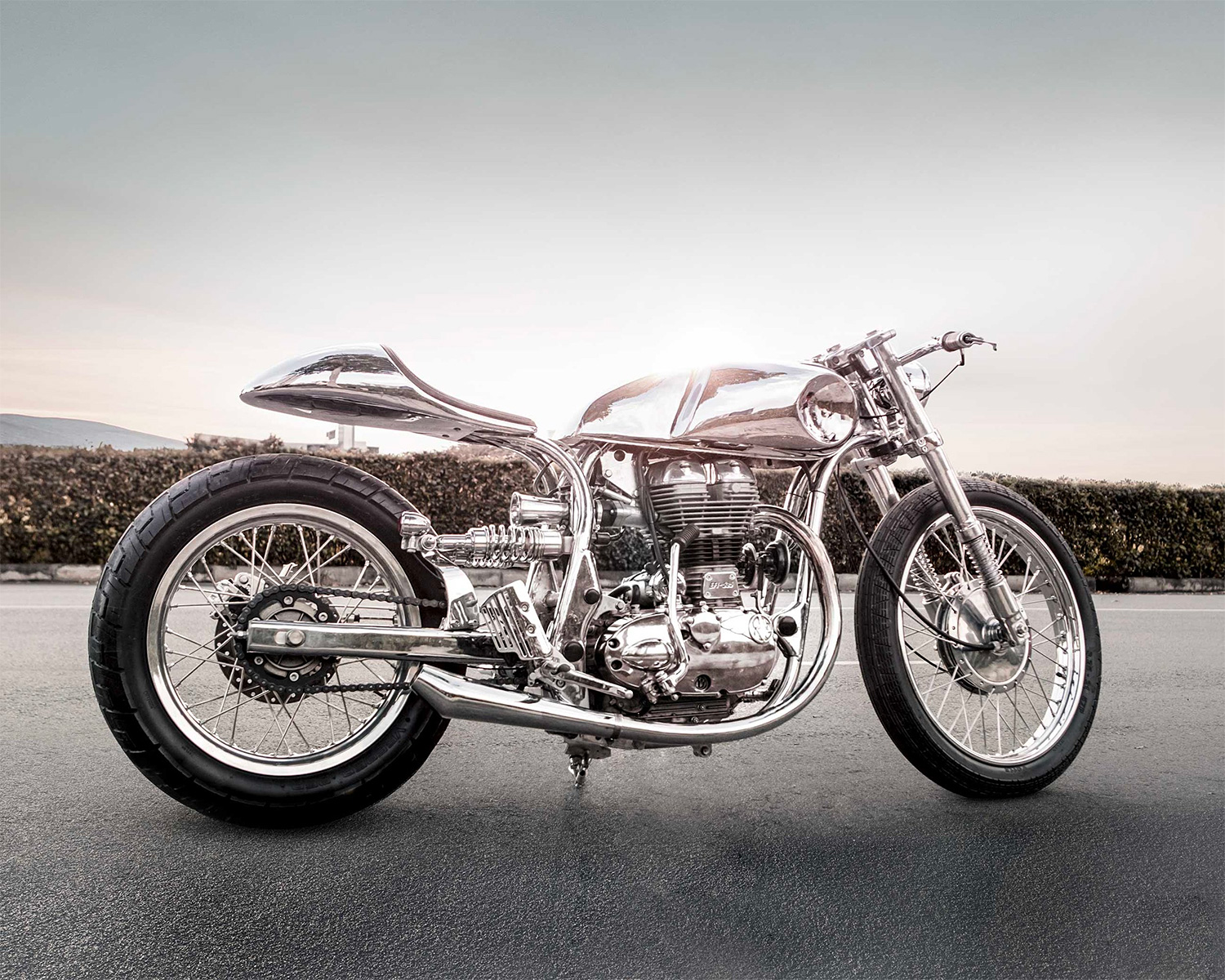 Bandit 9 Goes Full Chrome On This Classic British Bike at werd.com