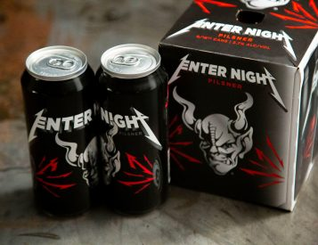 "Metallica Goes Deeper Into Booze Biz with ""Enter Night"" Pilsner"