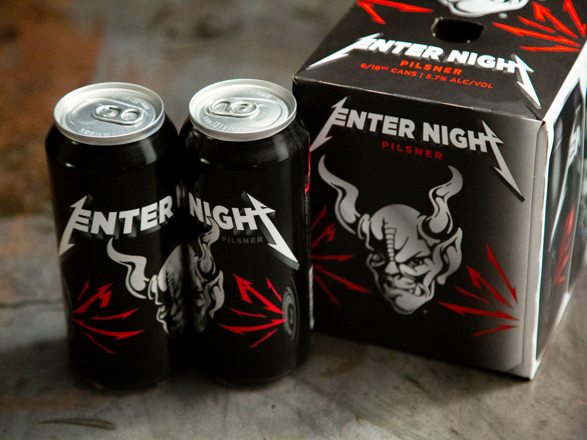 "Metallica Goes Deeper Into Booze Biz with ""Enter Night"" Pilsner at werd.com"