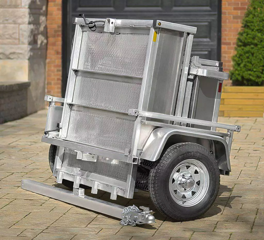 The Adapt-X Cargo Trailer Gives You Back Garage Space at werd.com