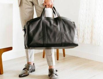 Hook & Albert's Getaway Leather Duffel Travels In Style