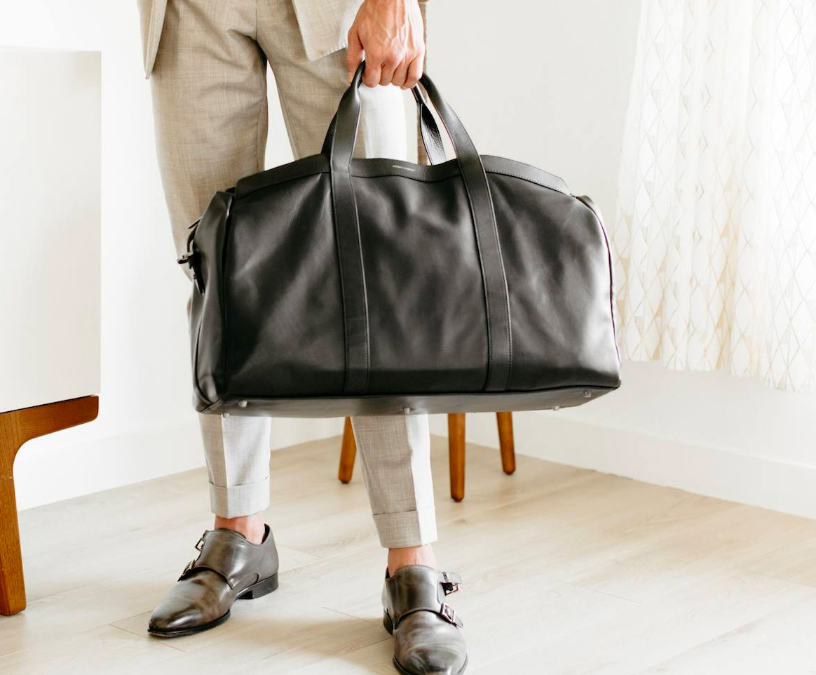 Hook & Albert's Getaway Leather Duffel Travels In Style at werd.com