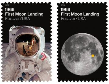 USPS Celebrates 50th Anniversary of Lunar Landing with 2 New Stamps