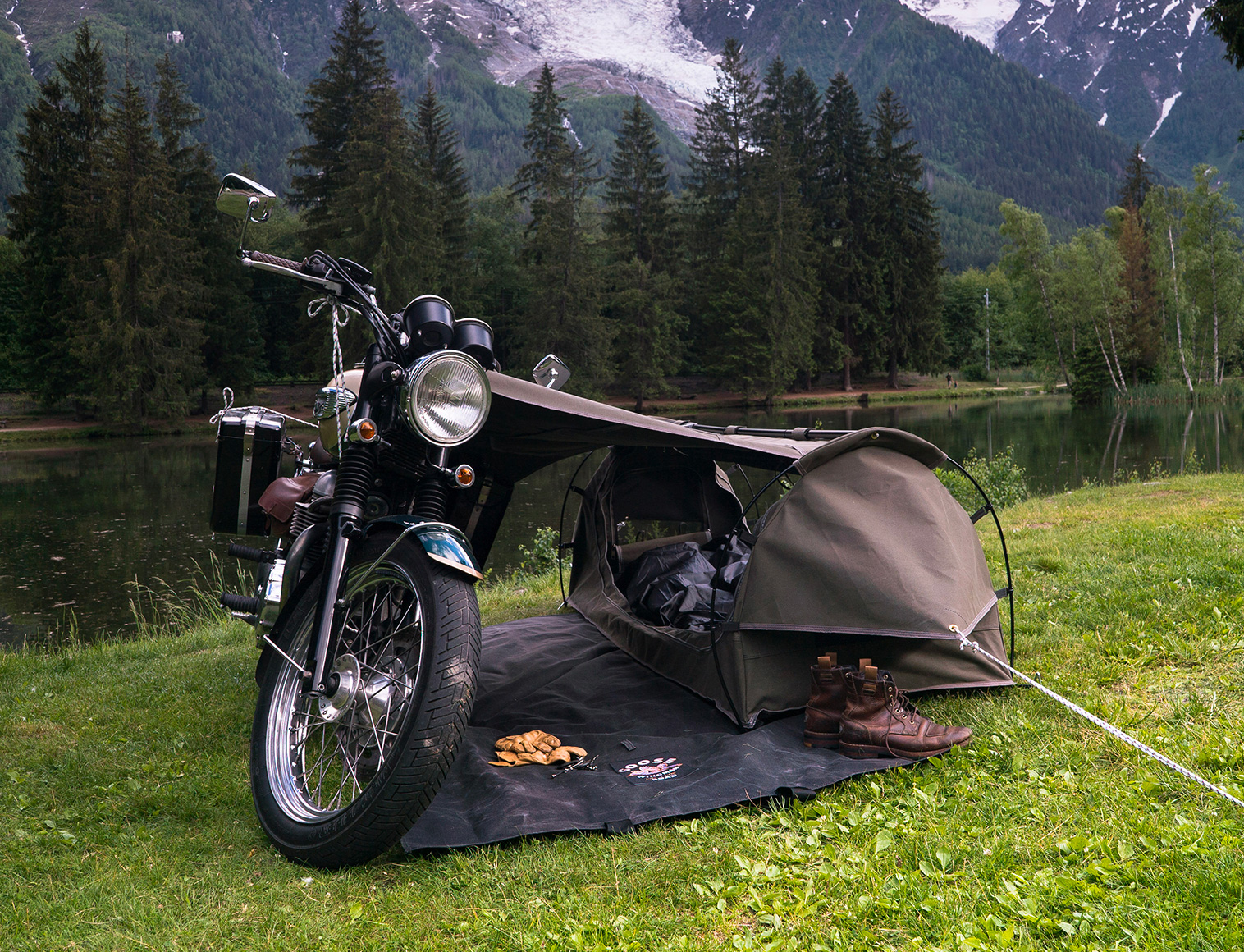 The Goose is Made for Motorcycle Camping at werd.com