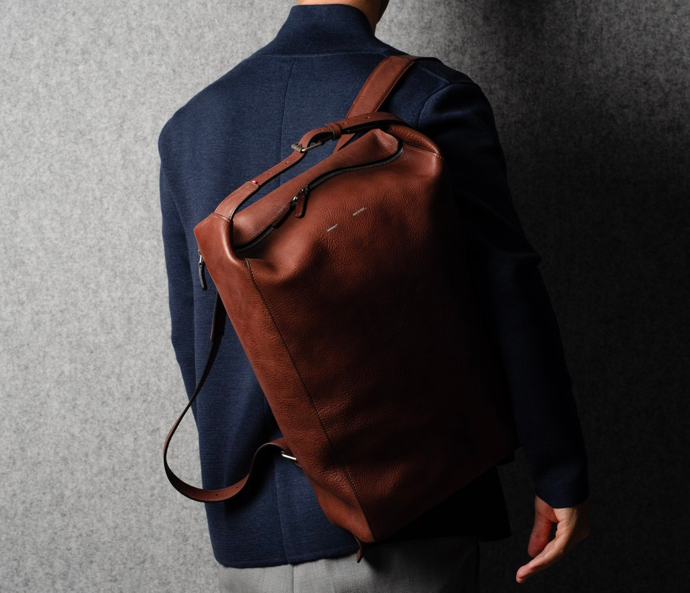 ac2ae1e9a28ed Hardgraft s Belted Backpack Looks Good in Leather