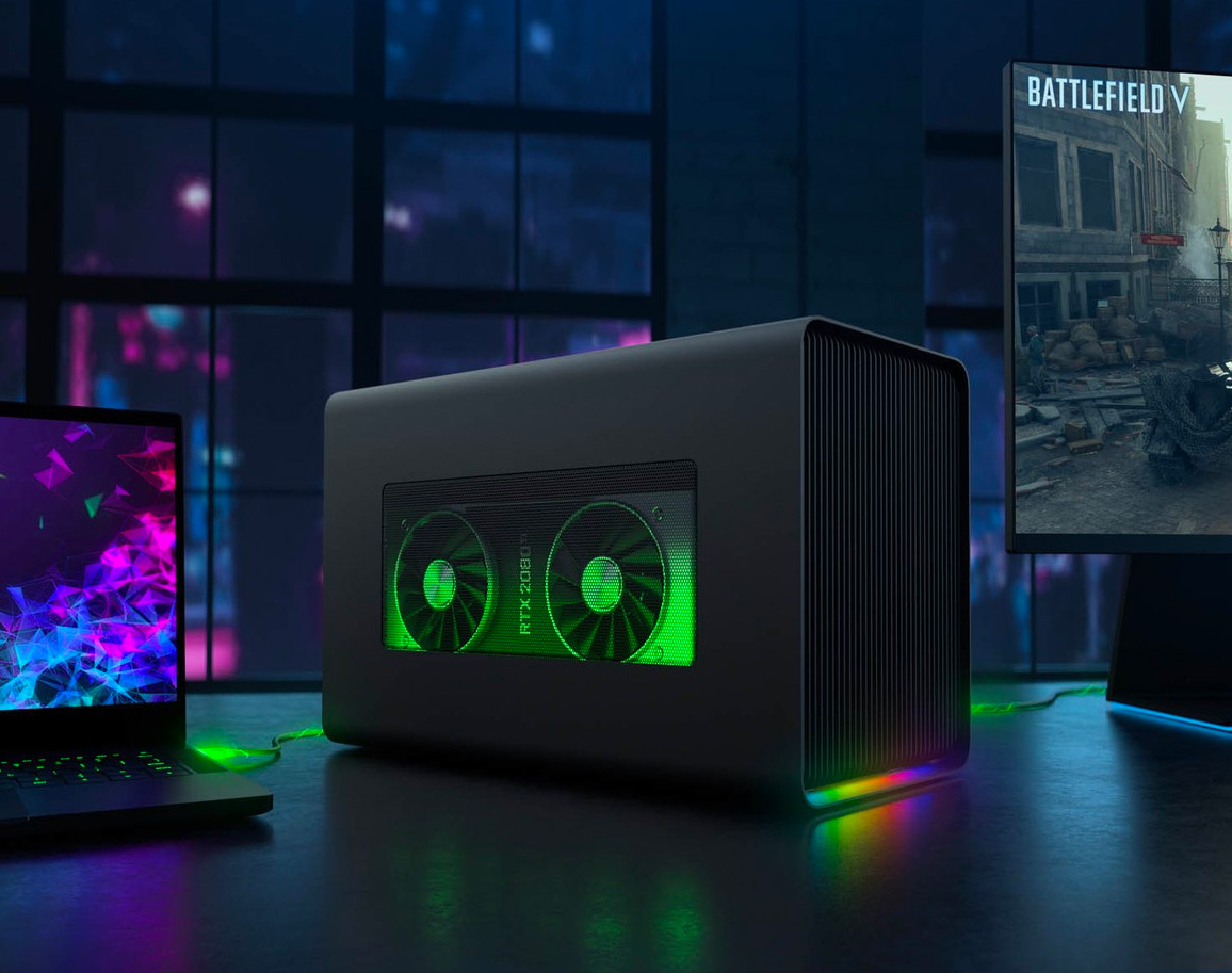 Razer Lights Up Laptop Gaming with Core X Chroma at werd.com