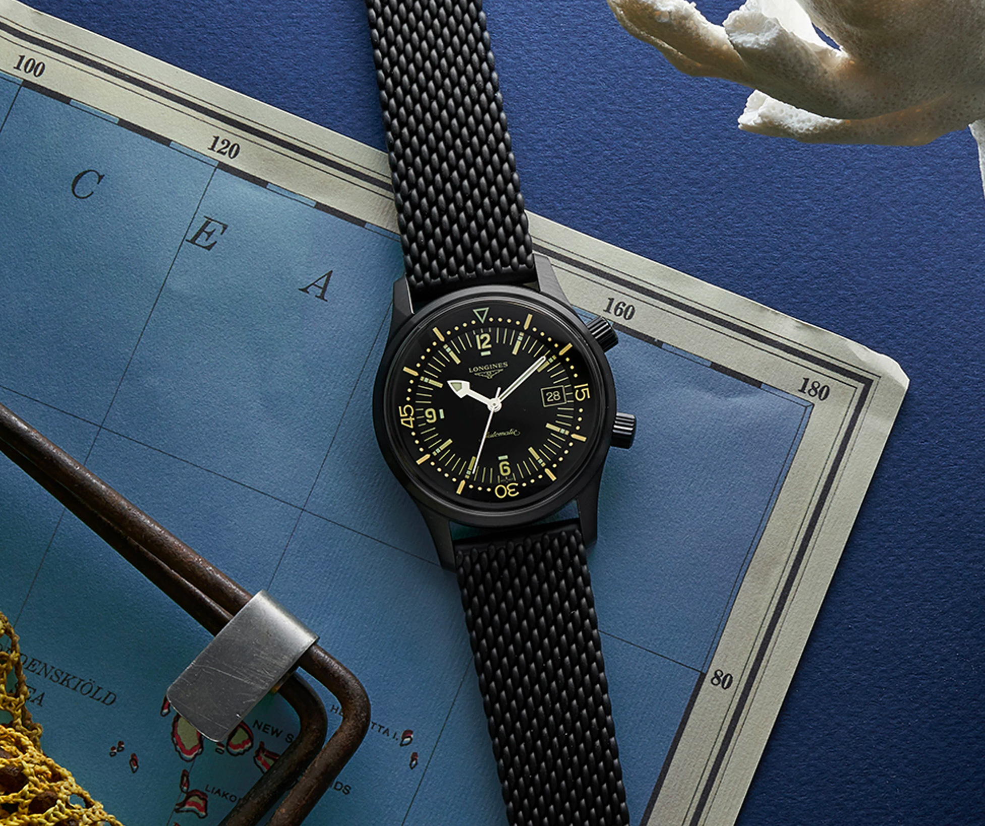 Longines Blacks Out Their Classic Dive Watch at werd.com