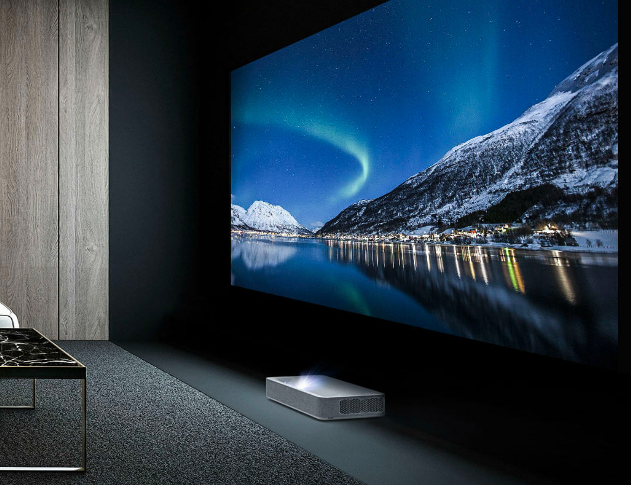 This Short Throw 4K Projector Creates a Huge Hi-Def Display at werd.com