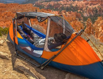 This Solo Shelter is Half Hammock, Half Tent