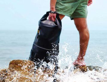 The Roll-Top AVO Backpack is 100% Waterproof