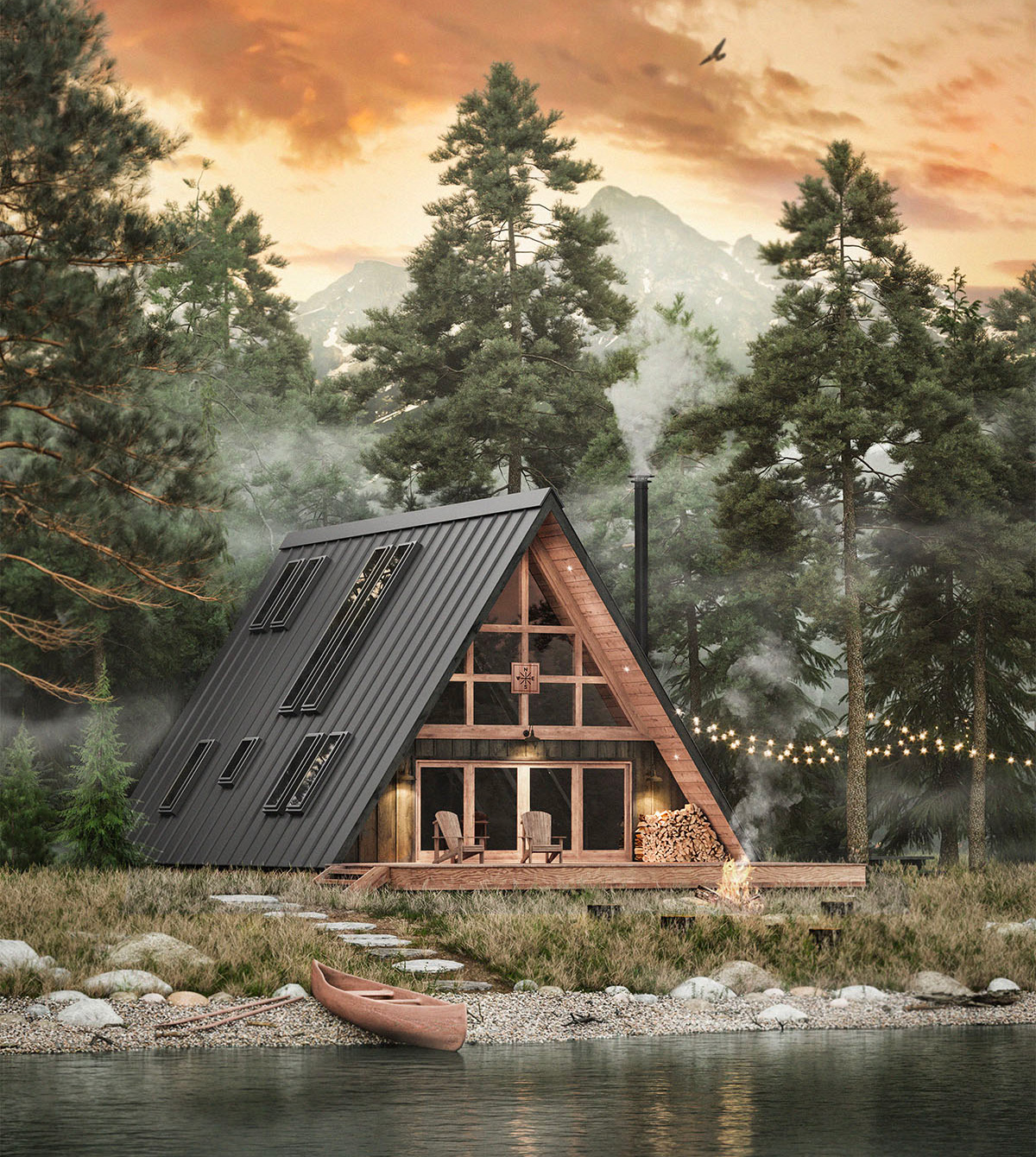 With AYFRAYM You Can Build Your Dream Getaway Cabin at werd.com