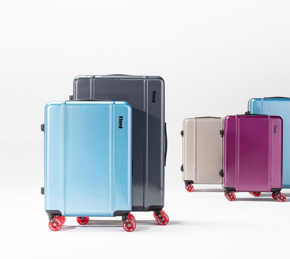 Floyd is 70s Skate-Inspired Rolling Luggage at werd.com