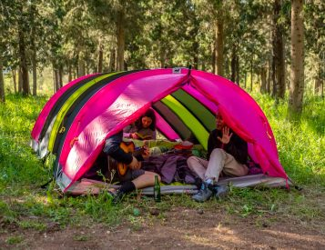 Come Together in the RhinoWolf 2.0 Attachable Tent