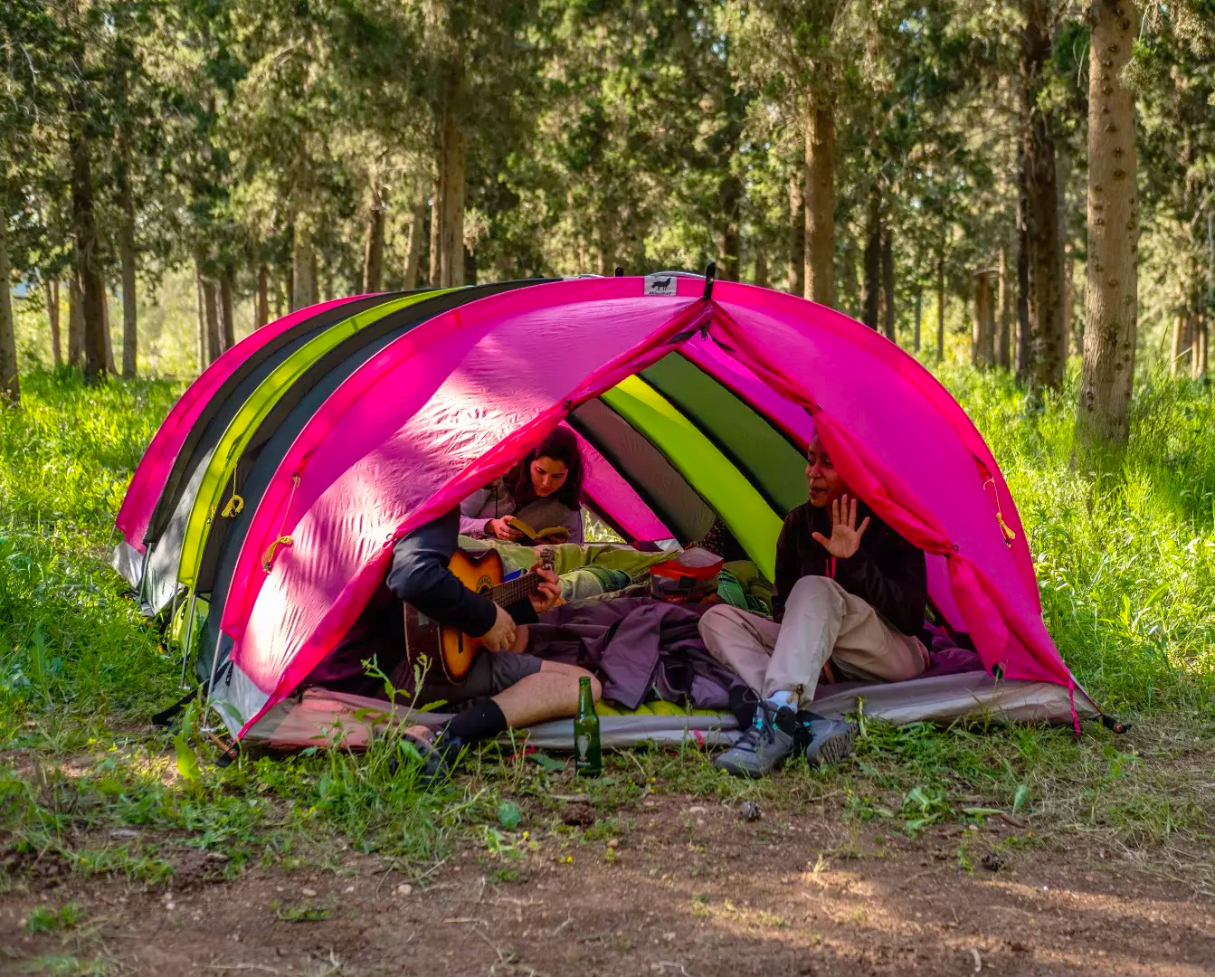 Come Together in the RhinoWolf 2.0 Attachable Tent at werd.com