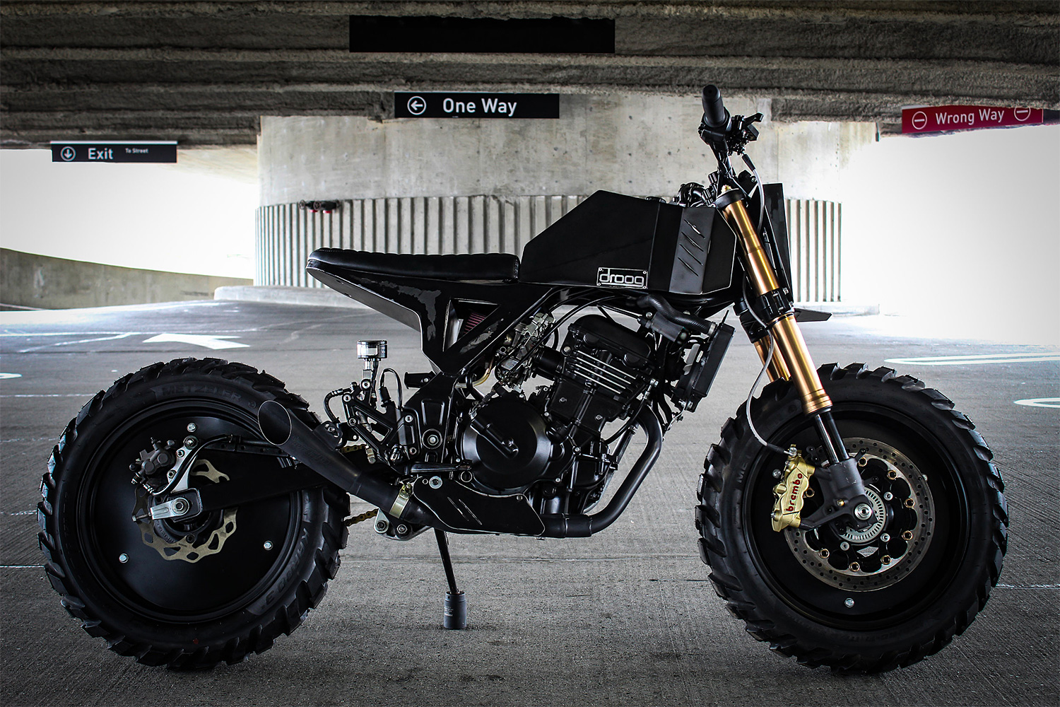Droog Moto Rolls Out A Radical Streetfighter at werd.com