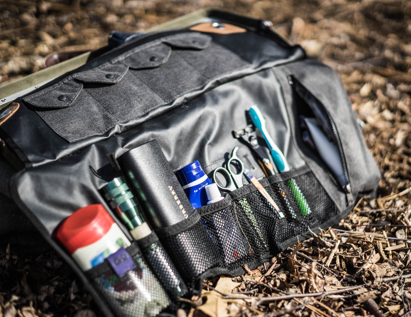 The Tashtego 2.0 is a Tool Roll for Toiletries at werd.com