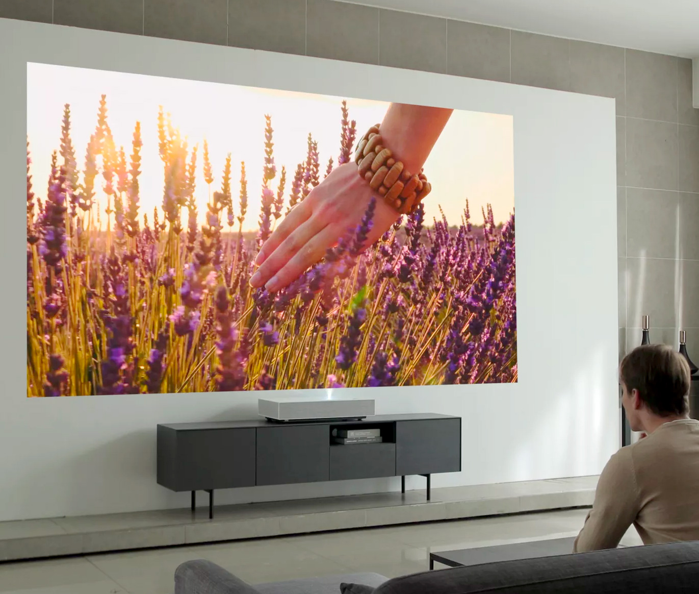 LG's Latest Short Throw 4K Laser Projector Creates a Huge HD image at werd.com