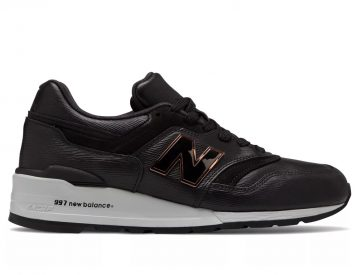 New Balance Drops Black Leather Luxe 997