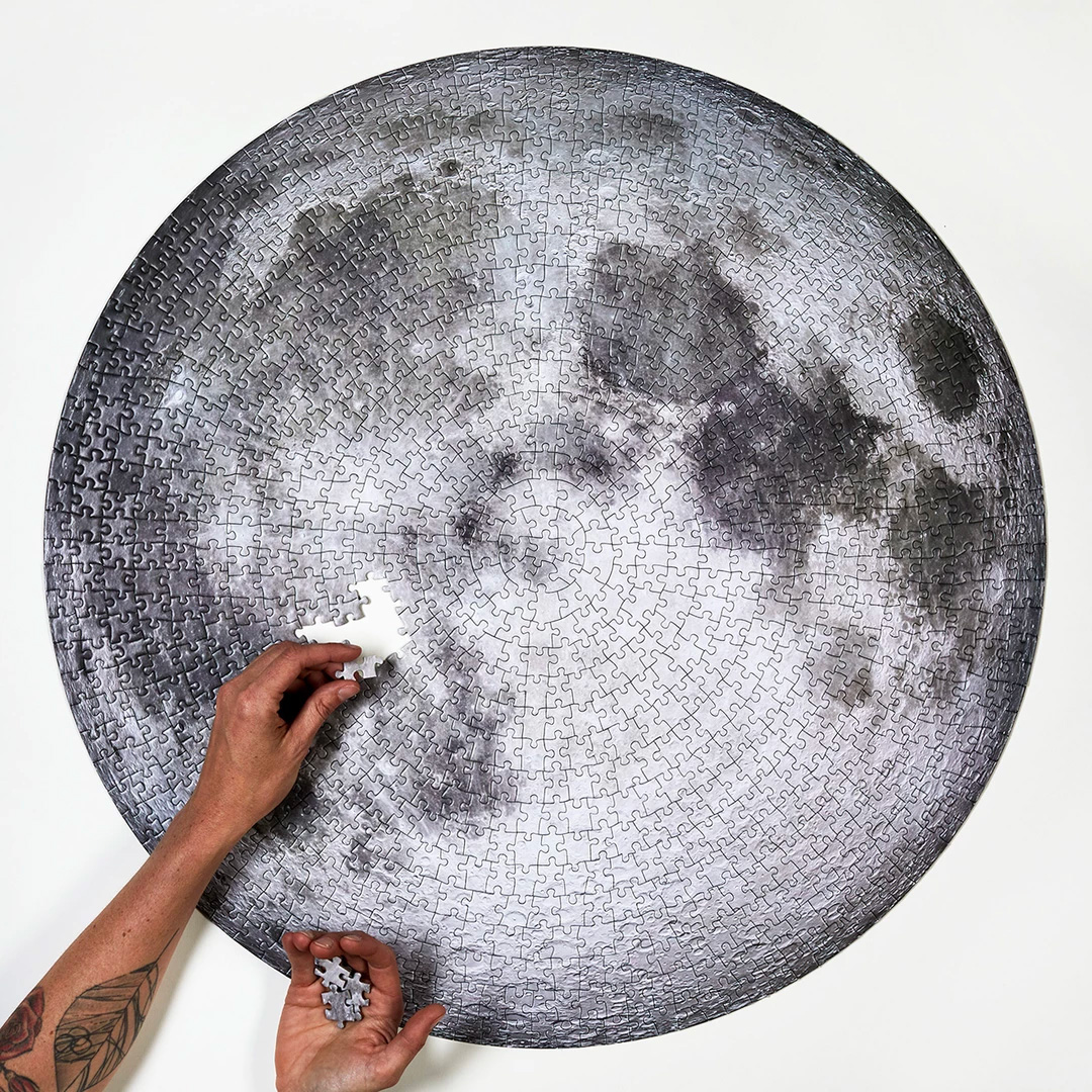 This 1000-Piece Puzzle Features NASA's Best View of the Moon at werd.com