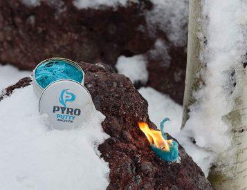 Pyro Putty Emergency Firestarter Blazes In Bad Weather