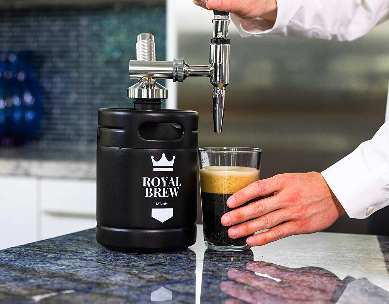 Tap a Caffeinated Keg with Royal Brew's Nitro Cold Brew Coffee System at werd.com