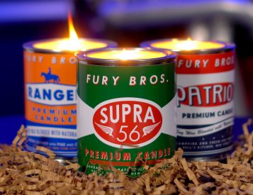Fury Bros. Natural Scented Candles Smell Like Grandpa's Garage