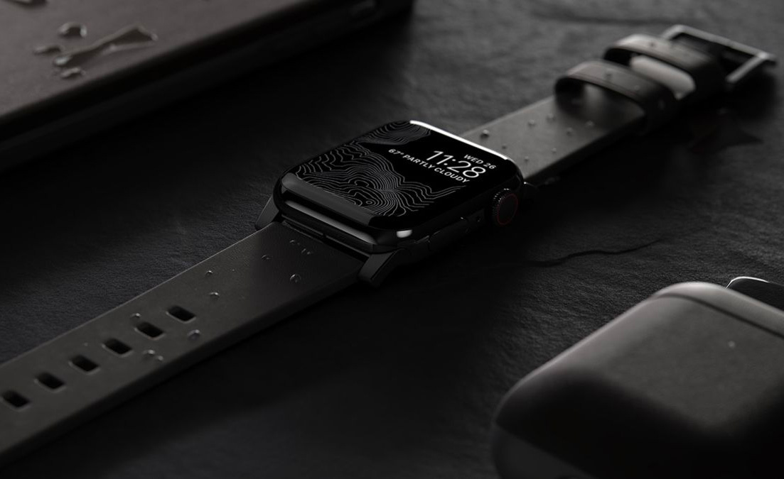 Upgrade Your Apple Watch with Nomad's Waterproof Leather Strap at werd.com