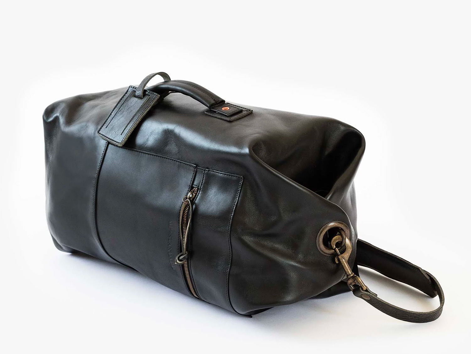 This Military Duffle Blends a Timeless Design with Leather Luxe at werd.com