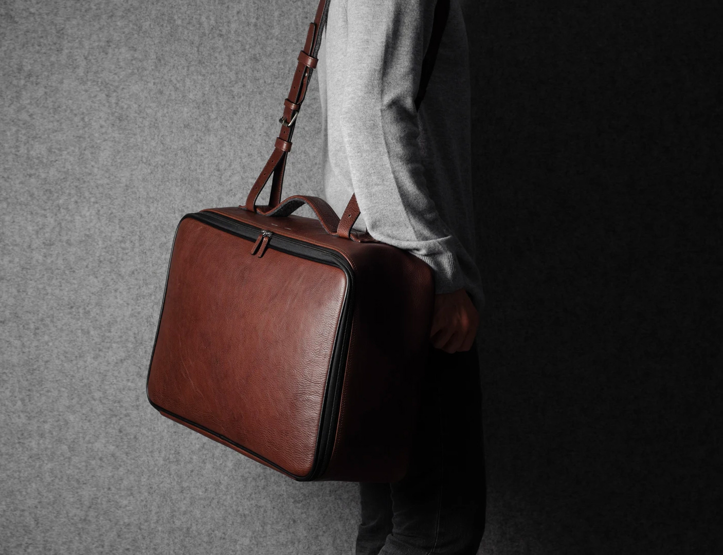 This Italian Leather Carry On from Hardgraft is a Travel-Ready Companion at werd.com