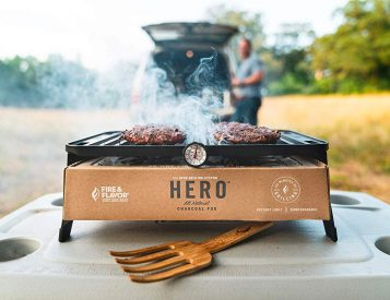 This Hero is a Portable Charcoal Grill