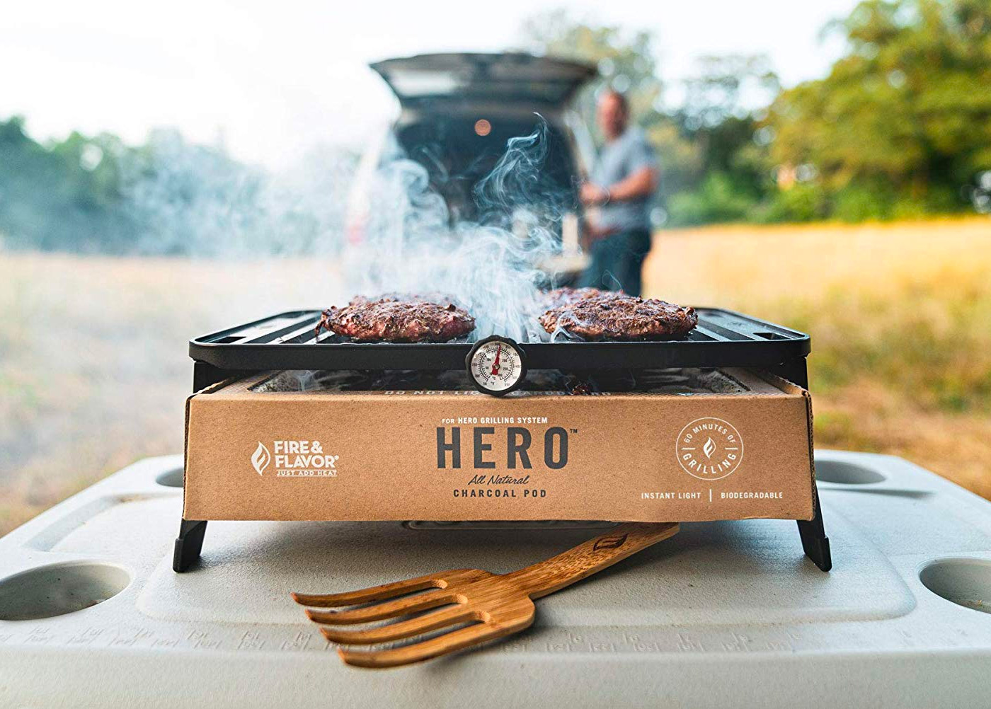 This Hero is a Portable Charcoal Grill at werd.com