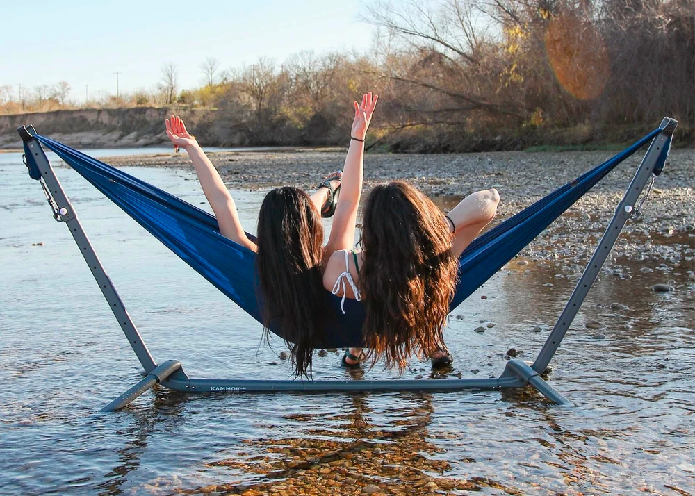 Hangout Anywhere with Kammok's Swiftlet Hammock Stand at werd.com