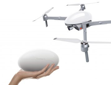 The PowerEgg X is a Drone & AI Tracking Camera in One