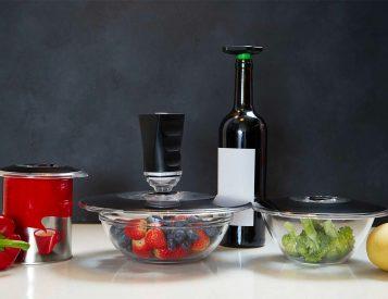 These Vacuum Lids Keep Food Fresher & Reduce Waste