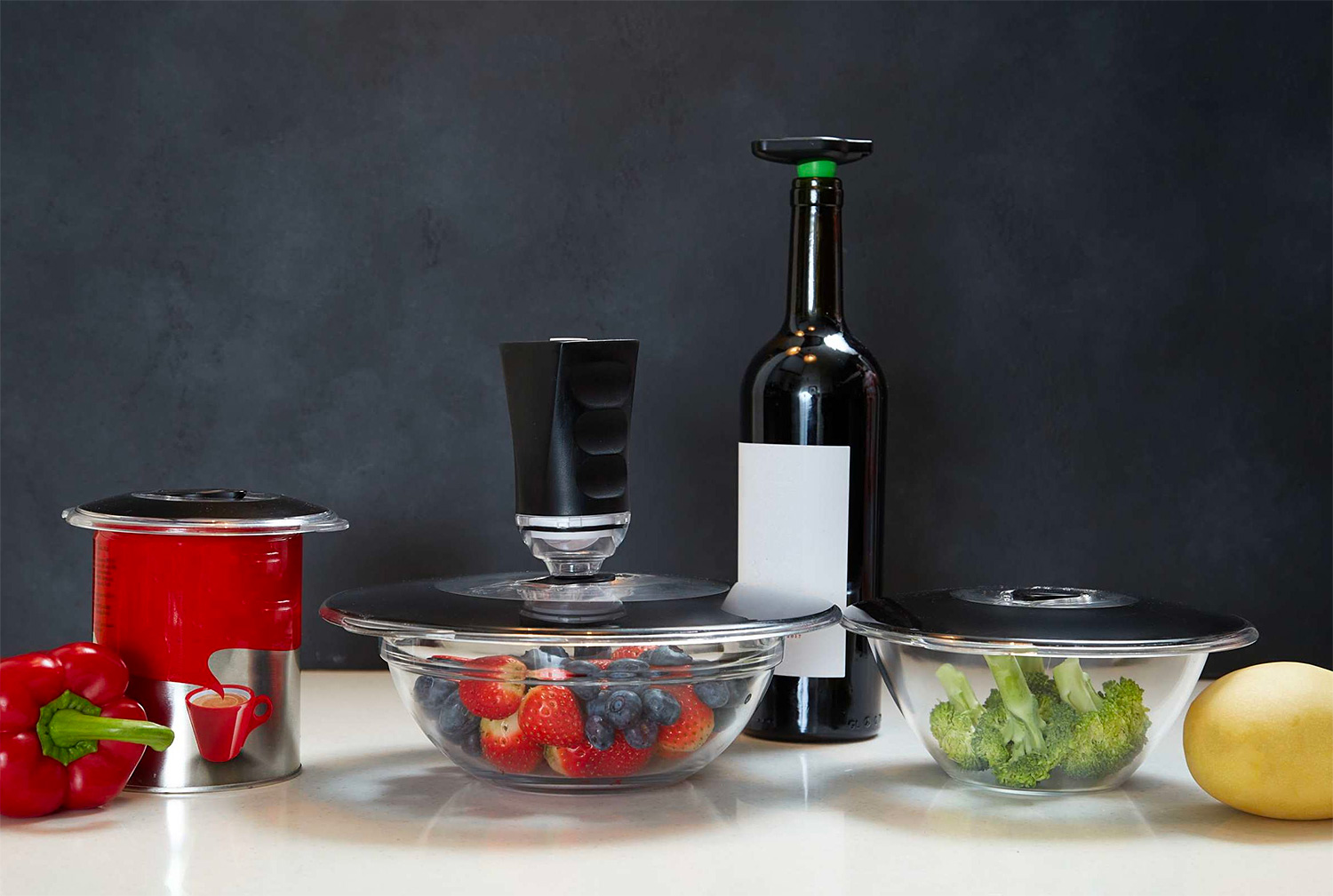 These Vacuum Lids Keep Food Fresher & Reduce Waste at werd.com