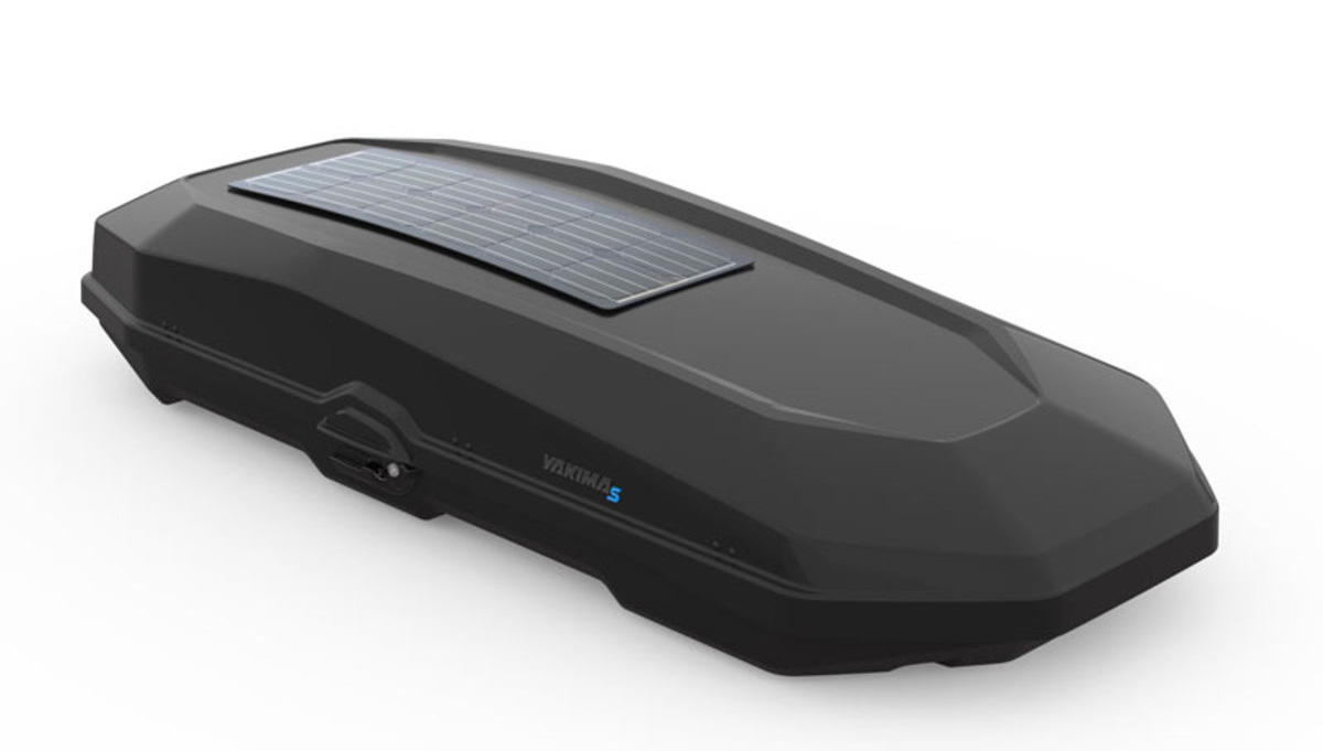 Yakima's CBX Roofbox Brings Solar Power Along for the Ride at werd.com