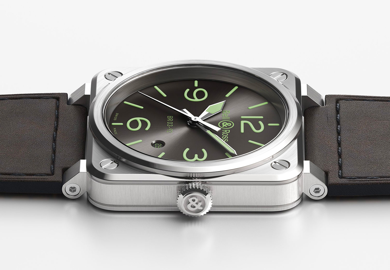 Bell & Ross Go Green with New BR O3-92 Grey LUM Automatic at werd.com