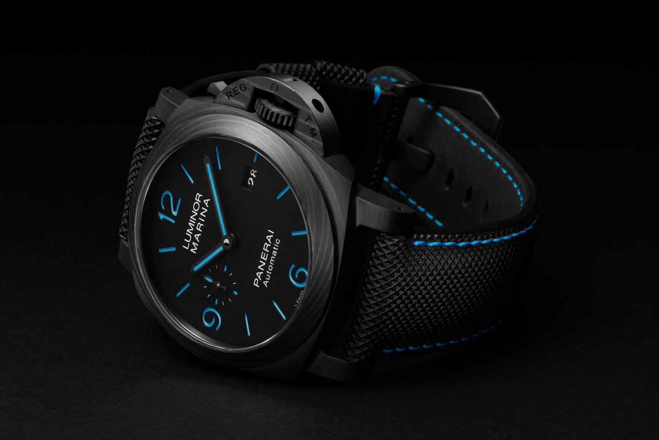 Panerai's PAM1661 Luminor Marina Carbotech is Ultralight & Ultrabright at werd.com