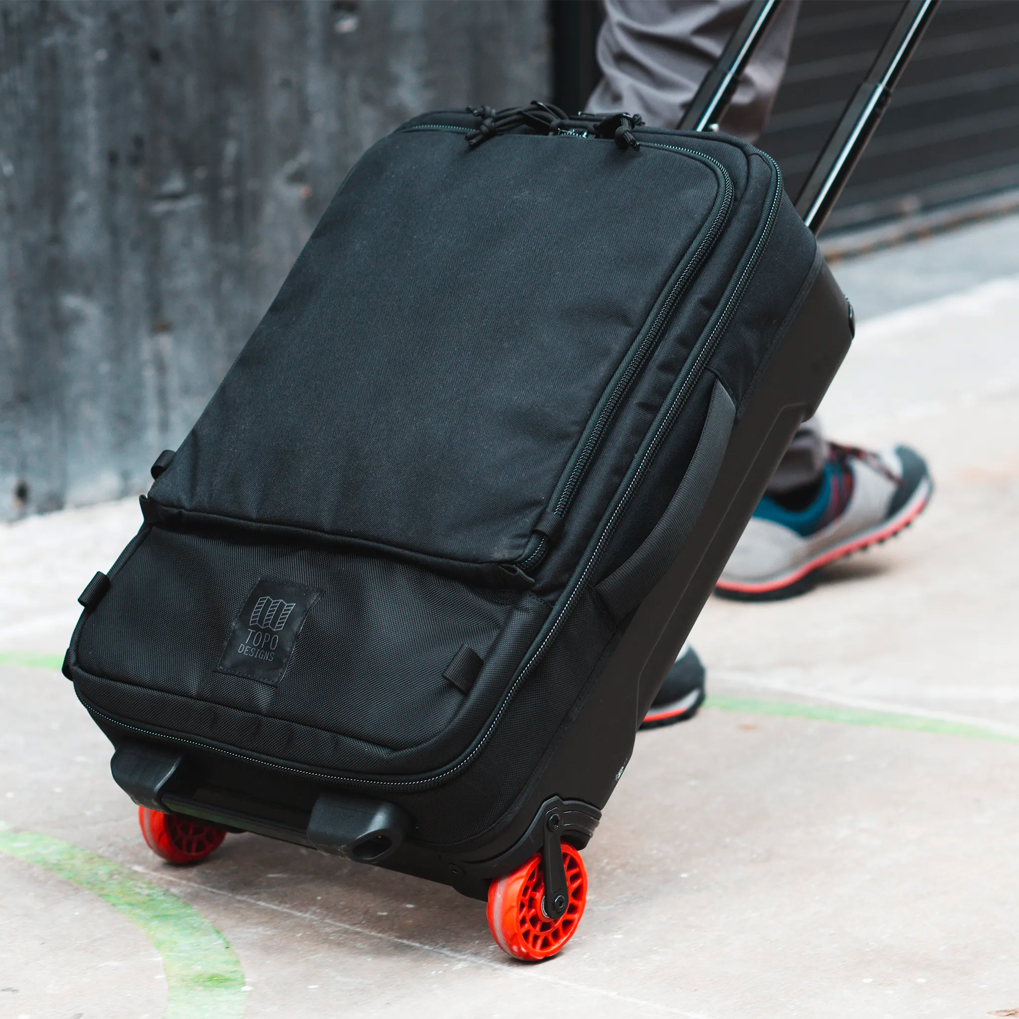 Topo Designs Goes Wheels Up with Travel Bag Roller at werd.com